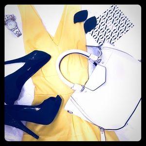 Banana Republic Yellow Midi Dress Size 2